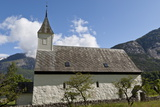 Old Eidfjord Church under a Blue Sky with a Countryside Setting Photographic Print by Eleanor Scriven