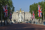 Buckingham Palace Down the Mall with Union Jack Flags, London, England, United Kingdom, Europe Photographic Print by James Emmerson