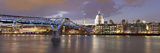 Millennium Bridge, St. Paul's Cathedral and River Thames, London, England, United Kingdom, Europe Photographic Print by Markus Lange