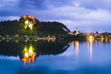 Light Reflections in Lake Bled, Julian Alps, Gorenjska, Slovenia, Europe Photographic Print by Matthew Williams-Ellis
