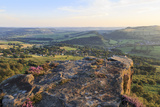 Curbar and Calver Villages from Curbar Edge on a Summer Evening Photographic Print by Eleanor Scriven