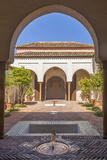 Courtyard in Alcazaba, Malaga, Andalucia, Spain, Europe Photographic Print by Rolf Richardson