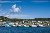 Little Fishing Boats in Marguerite Bay in St. Anthony, Newfoundland, Canada, North America Stampa fotografica di Michael Runkel