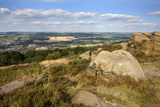 Gritstone Rocks at the Surprise View Overlooking Otley from the Chevin Photographic Print by Mark Sunderland