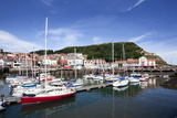 Yachts in the Old Harbour Below Castle Hill, Scarborough, North Yorkshire, Yorkshire, England Photographic Print by Mark Sunderland