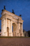 Arch of Peace at Night, Piazza Sempione, Milan, Lombardy, Italy, Europe Photographic Print by Ben Pipe