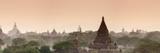 Panoramic of the Temples at Bagan (Pagan) at Sunset, Myanmar (Burma), Asia Reproduction photographique par Stephen Studd