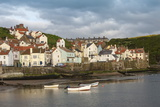 Harbour Wall and the Village of Staithes, North Yorkshire National Park, Yorkshire, England Photographic Print by James Emmerson