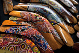 Boomerangs, Victoria Station Market, Victoria, Australia, Pacific Photographic Print by Lynn Gail