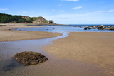 Johnny Flintons Harbour and Osgodby Point (Knipe Point) in Cayton Bay Photographic Print by Mark Sunderland