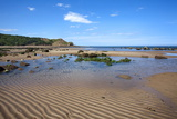 Sand Ripples and Tide Pool at Osgodby Point (Knipe Point) in Cayton Bay Photographic Print by Mark Sunderland