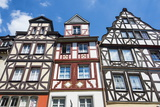 Half Timbered Houses on the Market Square in Cochem, Moselle Valley, Rhineland-Palatinate, Germany Photographic Print by Michael Runkel