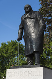 Statue of Sir Winston Churchill, Parliament Square, London, England, United Kingdom, Europe Photographic Print by James Emmerson