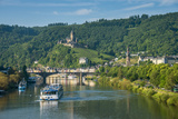 Cruise Ship Passes Cochem Castle, Cochem, Moselle Valley, Rhineland-Palatinate, Germany, Europe Photographic Print by Michael Runkel