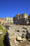Ruins of Temple of Apollo, Ortygia, Syracuse, Sicily, Italy, Europe Photographic Print by Neil Farrin