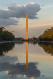 The Washington Monument with Reflection as Seen from the Lincoln Memorial Photographic Print by Michael Nolan