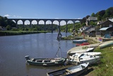 Calstock and Railway Viaduct over the River Tamar, Cornwall, England, United Kingdom, Europe Photographic Print by Rob Cousins