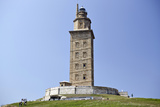 Hercules Tower, Oldest Roman Lighthouse in Use Todaya Corun±A, Galicia, Spain, Europe Photographic Print by Matt Frost