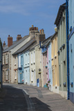 Original Terrace Houses Preserved Using Pastel Colours, Appledore, North Devon, England Photographic Print by James Emmerson