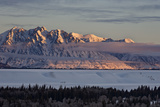 Teton Range at First Light in the Winter Photographic Print by James Hager