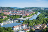 View over Wurzburg from Fortress Marienberg, Franconia, Bavaria, Germany, Europe Photographic Print by Michael Runkel