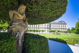 Statue under a Tree in the Baroque Gardens in the Wurzburg Residencewurzburg Photographic Print by Michael Runkel