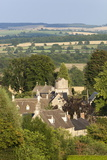 View over Cotswold Village, Icomb, Cotswolds, Gloucestershire, England, United Kingdom, Europe Photographic Print by Stuart Black