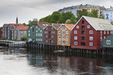Colourful Wooden Warehouses on Wharf Beside the Nidelva River Photographic Print by Eleanor Scriven