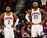 Kyrie Irving & LeBron James 2014-15 Action Photo