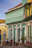 Colourful Houses in Historical Center Photographic Print by Jane Sweeney