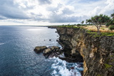 The Rocky Coast around Ha'Ateiho, Tongatapu, Tonga, South Pacific, Pacific Photographic Print by Michael Runkel