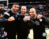 Tim Duncan, Manu Ginobili, & Tony Parker receive their 2014 NBA Championship Rings Photo