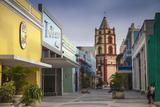 Pedestrian Street Leading to Iglesia De Nuestra Senora De La Soledad Fotografiskt tryck av Jane Sweeney