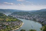 View over Boppard and the River Rhine from Vierseenblick, Rhine Valleyrhineland-Palatinate, Germany Photographic Print by Michael Runkel