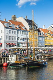 Fishing Boats in Nyhavn, 17th Century Waterfront, Copernhagen, Denmark, Scandinavia, Europe Stampa fotografica di Michael Runkel