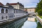Ljubljana Triple Bridge (Tromostovje) and Ljubljanica River, Ljubljana, Slovenia, Europe Photographic Print by Matthew Williams-Ellis