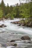 Slow Motion Blur Detail of a Raging River in Hellmebotyn, Tysfjord, Norway, Scandinavia, Europe Photographic Print by Michael Nolan