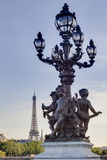 Statues on Pont Alexandre Iii with the Eiffel Tower in the Background, Paris, France, Europe Photographic Print by Julian Elliott
