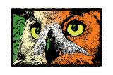 Noted Owl Reproduction procédé giclée par Billy Perkins