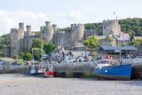 Conwy Castle, UNESCO World Heritage Site, and Harbour, Conwy, Wales, United Kingdom, Europe Photographic Print by Peter Groenendijk