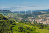 Millau Viaduct, Millau, Midi-Pyrenees, France, Europe Photographic Print by Karl Thomas
