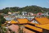 View of Brinchang Town and Chinese Temple, Cameron Highlands, Pahang, Malaysia, Asia Photographic Print by Jochen Schlenker