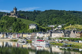 View over Cochem with Cochem Castle in the Background Photographic Print by Michael Runkel