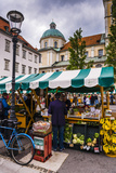 Ljubljana Central Market on a Saturday in Vodnikov Trg, Ljubljana, Slovenia, Europe Photographic Print by Matthew Williams-Ellis