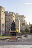 Windsor Castle and Statue of Queen Victoria at Sunrise, Windsor, Berkshire, England Photographic Print by Charlie Harding