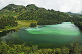 Telaga Warna (Colorful Lake), Dieng Plateau, Java, Indonesia, Southeast Asia, Asia Photographic Print by Jochen Schlenker