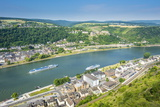Cruise Ship Passes St. Goarshausen on the River Rhine, Rhine Gorgegermany, Europe Photographic Print by Michael Runkel
