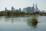 Kuala Lumpur Skyline Seen from Lake Titiwangsa, Kuala Lumpur, Malaysia, Southeast Asia, Asia Photographic Print by Jochen Schlenker