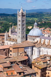 View of Duomo from Torre Del Mangia, UNESCO World Heritage Site, Siena, Tuscany, Italy, Europe Photographic Print by Peter Groenendijk