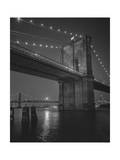Brooklyn Bridge, New York City, Moon Photographic Print by Henri Silberman